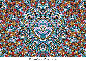 Colorful mandala star