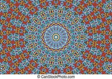 Colorful mandala star