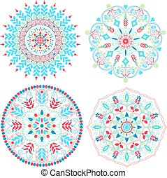 Colorful mandalas set