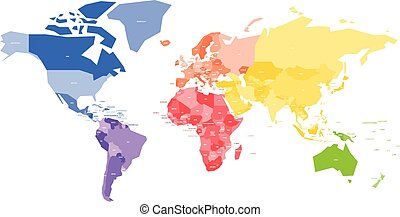 Illustration of world map with country name vector clipart search colorful map of world simplified vector map with country name labels gumiabroncs