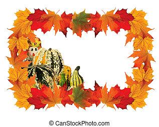 Colorful Maple leaf Frame