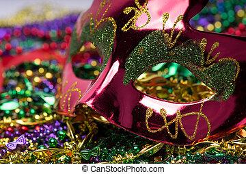 Mardi Gras Mask - Colorful Mardi Gras Mask with beaded ...