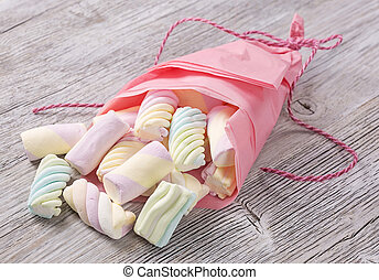 Colorful marshmallow