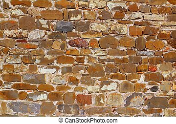 colorful masonry wall stone construction