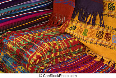 Colorful Mayan Fabrics - Colorful Mayan and Mexican Fabrics...