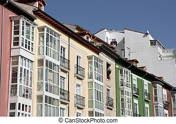 Burgos - Colorful mediterranean architecture of Burgos, ...