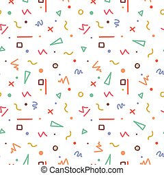 Colorful memphis seamless pattern
