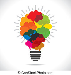 colorful message bubble bulb