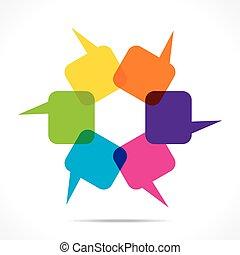colorful message bubble design