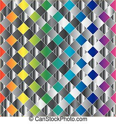Colorful metal grid background