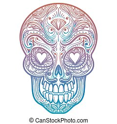 ae8fef70f4f89 Gangster skull tattoo. death head with cigar and hat vector ...