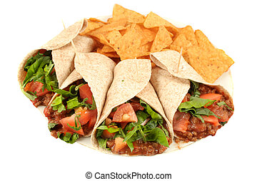 Colorful mexican food - Delicious and colorful mexican...