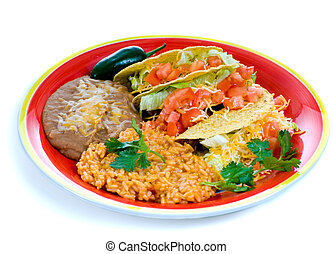 Colorful Mexican food plate - A colorful Mexican food plate ...