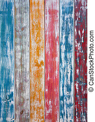 Colorful mexican stripes chalk painted wood