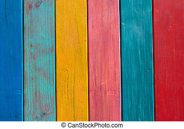 Colorful mexican stripes painted wood texture background