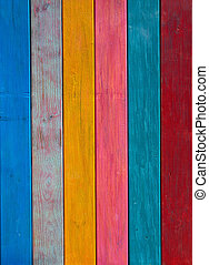 Colorful mexican stripes painted wood texture