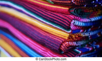 Colorful mexican wool serape blankets texture. Woven ...