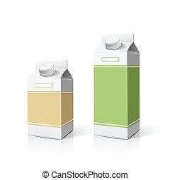Colorful milk box packaging