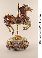 mini carrousel horse