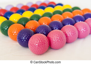Colorful Miniature Golf Balls