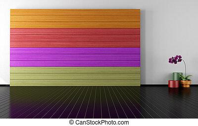 colorful minimalist room