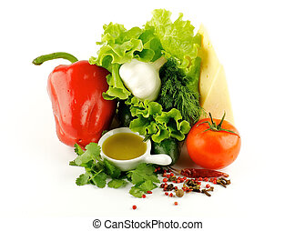 Colorful mix of vegetables
