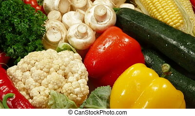 Colorful Mixed Vegetable Background