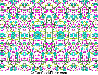 Colorful Modern Baroque Seamless Pattern.