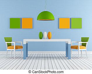 Colorful modern diningroom - Minimalist Colorful modern ...