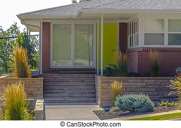 Colorful modern home in Salt lake city