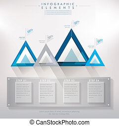 colorful modern paper triangle abstract infographic