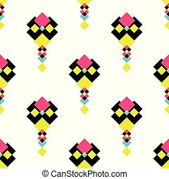 Colorful modern seamless pattern background. Nice and...