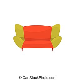 Colorful modern sofa, living room or office interior,...