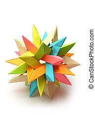 Colorful Modular origami star - Colorful modular origami...