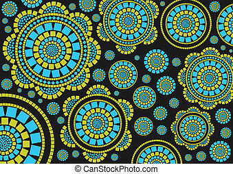 Colorful mosaic background for poster