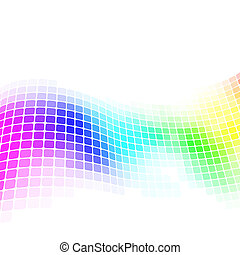 Colorful mosaic background with copy space.