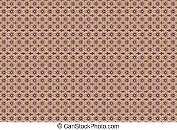 Mosaic Background with Hexagonal Pattern
