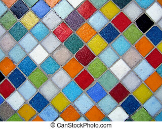 Colorful mosaic - Multicolored mosaic close-up