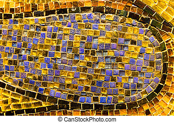 Colorful mosaic tile decoration