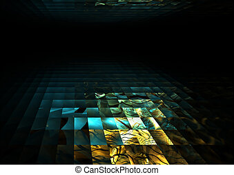 colorful mosaic tile horizon