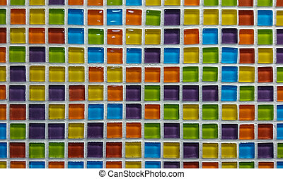 Colorful mosaic tile