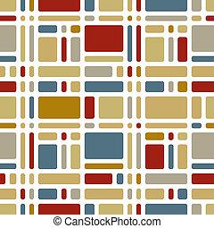 Colorful mosaic tiles seamless pattern.