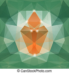 Colorful mosaic triangle backgro