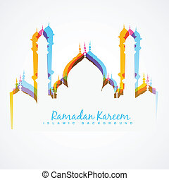 colorful mosque design - vector colorful mosque design...