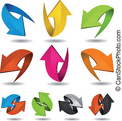 Colorful Motion Arrows Set