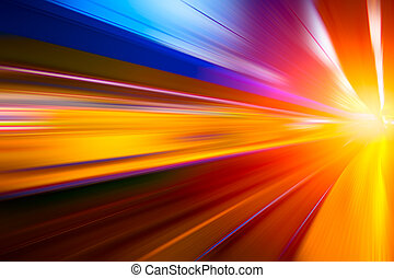 colorful move fastest super high speed concept, Acceleration speedy drive motion blur of lightning abstract for background design.