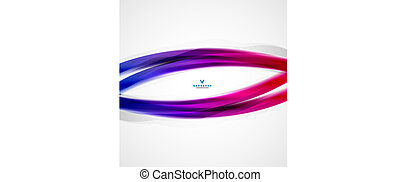 Colorful moving abstract lines modern template