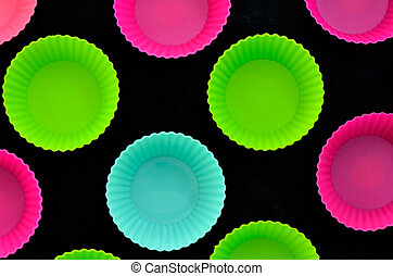 colorful muffins silicone cup