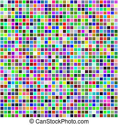 Colorful multi color seamless square tiles - Vector -...