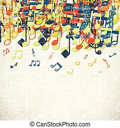 Colorful Music Background - Colorful music background with...